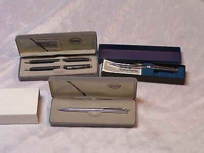 Lot Of (3) Vintage Zippo Pen Pencil Sets New In Box Great Find No Lighters