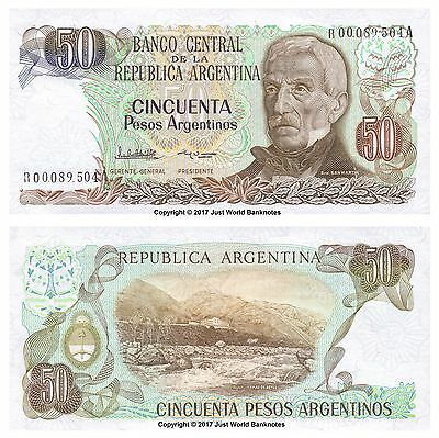 Argentina 50 Pesos ND (1983-85) Replacement Banknotes  P-314r  UNC