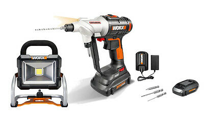 WX176L WORX 20V Switchdriver Cordless Drill & Driver + Work Light included!