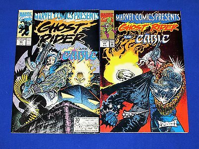 GHOST RIDER CABLE / WOLVERINE  Issues 90 and 91 [Marvel 1991] VG/NM Or Better!