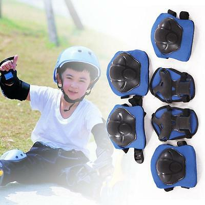 New Kid 6pcs skating protective gear Safety Children Knee Elbow Pads Set Blue X3