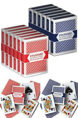 Bicycle Poker Size Standard Index Playing Cards 12 Deck Player's Pack Red & Blue