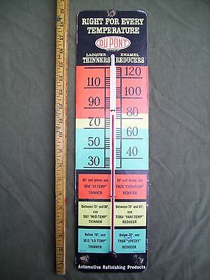 Vintage Dupont Auto Refinishing Products Working Thermometer-Cardboard-Xclnt
