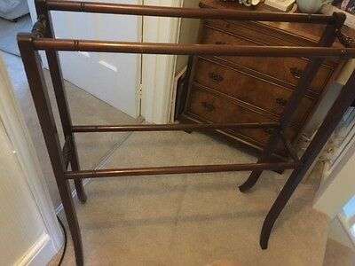 Antique Edwardian  Towel Rail Please See Listing For Full Description