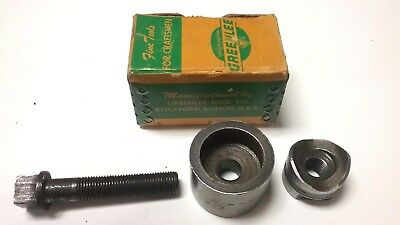 """New - Greenlee 15/16"""" Round Radio Chassis Punch Set - Model 730 - Usa"""