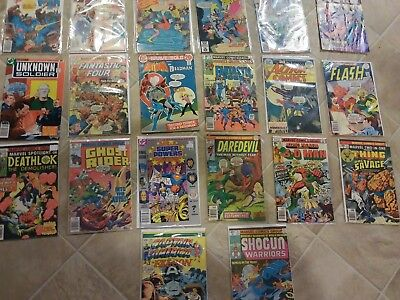 Vintage Comic Book Lot Of 20 batman superman flash super powers And Lots Of Othe