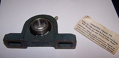 NIB Dodge 123806 Bearing Ball Pillow Block 1-inch Bore 2-bolt with papers
