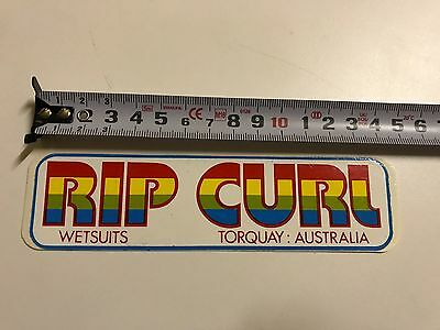 Rip Curl Torquay Genuine 80,s Surf Sticker As Pictured.