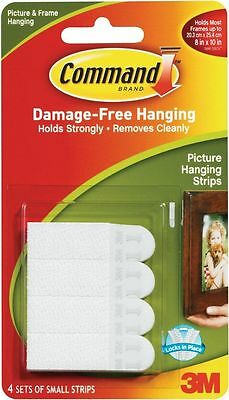 3M COMMAND Small Adhesive Strips 17202 | Picture Poster Damage Free Wall Hanging