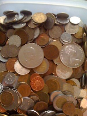World Lot Of Coins All Countries And Dates Unsearched 5.6 Lbs. Includes 2 Crowns