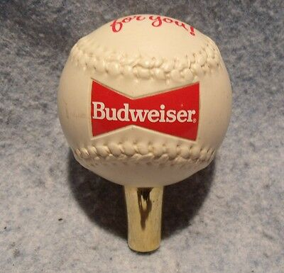 Vintage Budweiser Baseball This Buds For You!  Beer Tap Handle