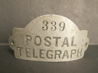 Old US Postal Telegraph Hat Badge #339
