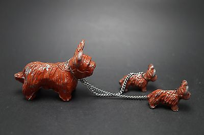 VTG Metal SKYE TERRIER Dog Family Set Lot