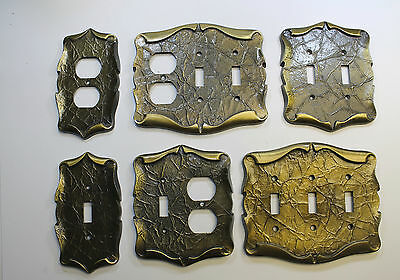 "Amerock 'Carriage House"" Vintage Brass Electrical Covers"