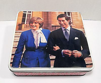 Charles and Diana 1981 Engagement Commemorative Large Metal TIn