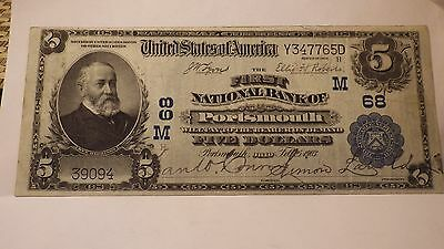 $5 - 1902  National Currency   Fabulous