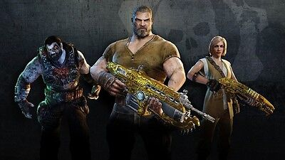 Gears of War 4 Black Walnut Gnasher Brothers to the End Elite pack and Del DLC