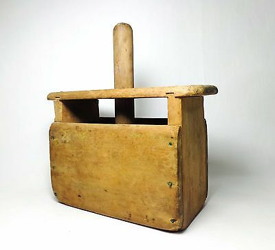 Shaker (Canterbury Nh) Antique Handmade Primitive Dry Wooden Soap Mold W/plunger
