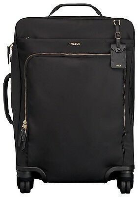 Tumi Voyageur Super Leger CONTINENTAL 4 Wheel Carry-On   BLACK STUNNING $545