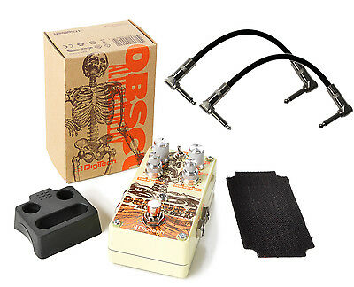 Digitech Obscura Altered Delay (4-Types) Guitar Effect Pedal Bundle with Ca