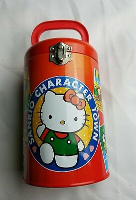 1995 Sanrio Character Town Tin Canister Hello Kitty Lunch Box