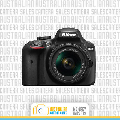 Nikon D3400 DSLR Camera with 18-55mm Lens *Authorised Nikon Dealer*