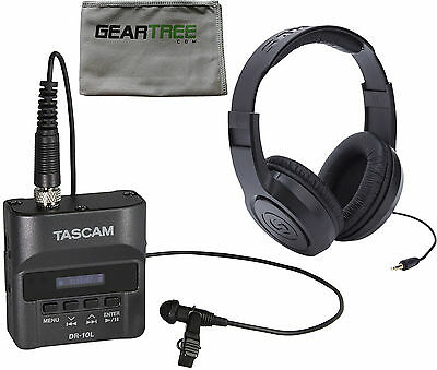 Tascam DR-10L Portable Stereo Recorder for Lavalier Microphones w/ cleaning