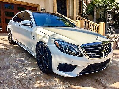 "2016 Mercedes-Benz S-Class S63 AMG 2016 Mercedes Benz S63 AMG Designo Loaded Renntech 20"" Wheels Executive Package"