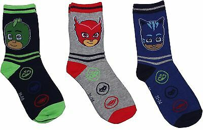 PJ Masks Catboy Owlette and Gekko Children's 3 Pack Sock Set By BestTrend