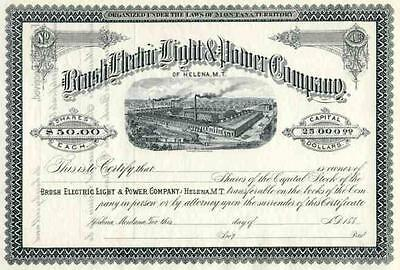 188_ Brush Electric Light & Power Stock Certificate