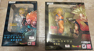 2 NEW OFFICIAL Super Saiyan 3 Goku + Gotenks Figuarts Zero Figure DBZ Anime Buu
