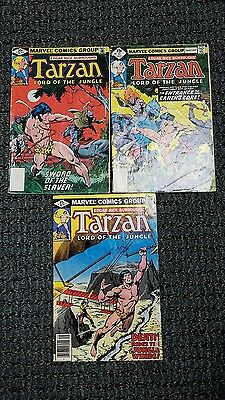 Edgar Rice Burroughs Tarzan Lord of the Jungle #15 16 17 Marvel Comics 1977