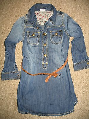 Gorgeous NEXT UK denim shirt dress with belt sz 5 years EXC condition WoW!