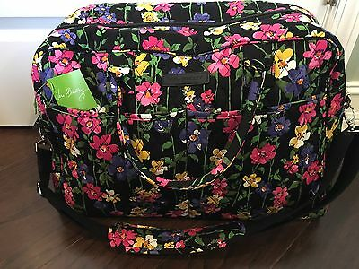 NEW Vera Bradley WILDFLOWER GARDEN WEEKENDER - Large Duffel Travel Luggage Bag