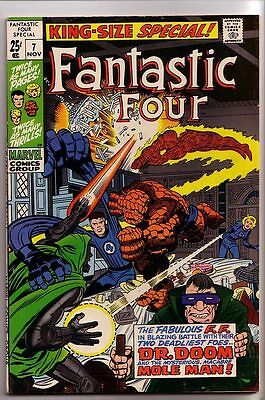 Fantastic Four Annual # 7 VF 8.0 Silver Age Issue (1969) Dr. Doom $33 New Scans