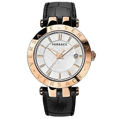Versace Men's 23Q80D002S009 V-Race Gold Plated 3-Interchangeable Rings Watch
