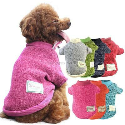 Pet Dog Winter Warm Coat Jacket Clothes Puppy Doggy Cat Sweater Clothing Apparel