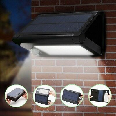 Solar Garden Lights PIR Motion Sensor Wall Lamps 32/50 LED Foldable Waterproof