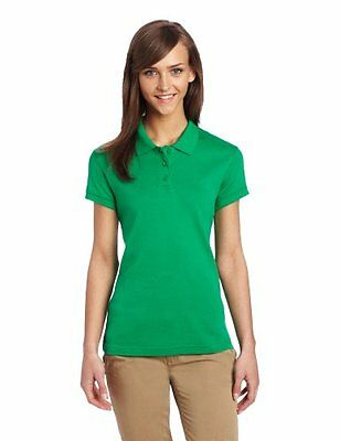 CLASSROOM Juniors Short Sleeve Fitted Polo Kelly Green Small