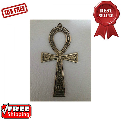 Ankh Brass Altar Piece Wall Hanging Display Home and Kitchen Home Improvement