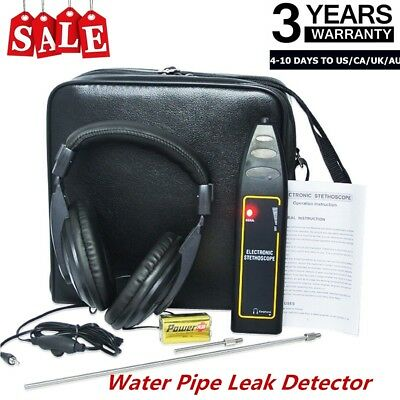 Water Pipe Leak Detector Electronic Stethoscope Earphone Detection Equipment US
