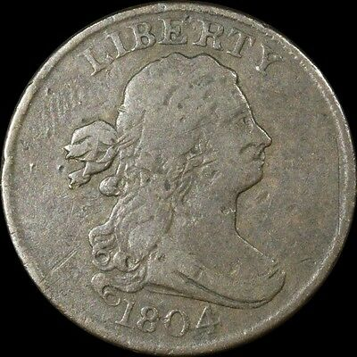 1804 Draped Bust Copper Half Cent