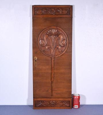 *Vintage French Art Deco Carved Panel in Oak Wood Salvage 2
