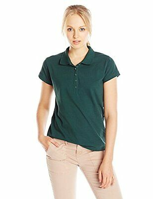 Classroom Junior's Stretch Pique Polo Hunter Green XXX-Large
