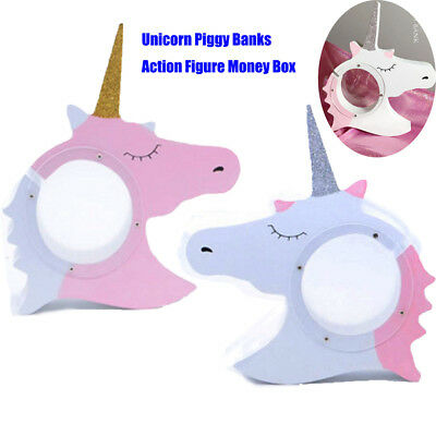 Unicorn Piggy Banks Action Figure Money Box Collection Display Kids Toys Gifts