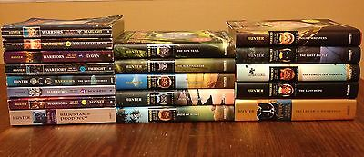 Warriors Book Collection Lot of 18 Books Erin Hunter Cats Hardcover Paperback