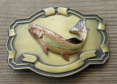 Trout Fish Fishing 1970's Vintage Belt Buckle