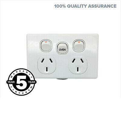 35 AMP DGPO Slim With Oven Switch Extra Mech. Slimline Power Point Socket Outlet