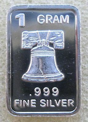 "Best junk drawer 1 gram .999 Pure/Solid Silver Bullion Art-Round "" LIBERTY BELL"""