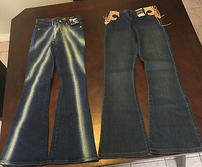 Lot Of 2 Watch LA Size 7/8 inseam 31-32 Inseam Elastic NWT Minor Flaws Jeans